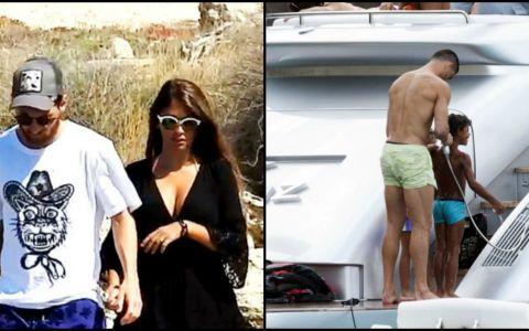 Messi si Ronaldo isi fac vacantele in Ibiza. Cum arata cele mai importante persoane din viata celor doi fotbalisti
