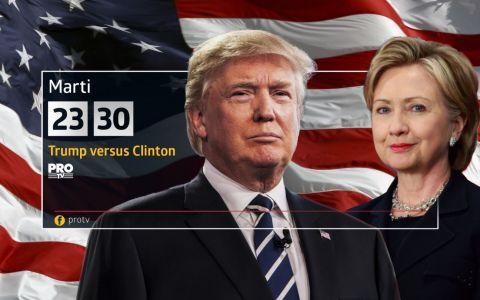 ProTV difuzeaza ASTAZI, in ziua alegerilor prezidentiale din SUA, documentarul  Trump versus Clinton