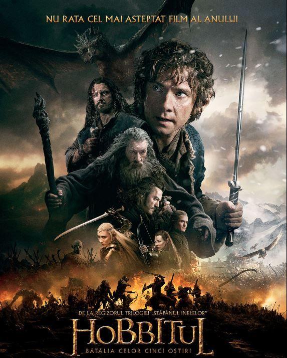 Filme de weekend: Duminica - Hobbitul: Batalia Celor Cinci Ostiri, de la 20:30, la ProTV