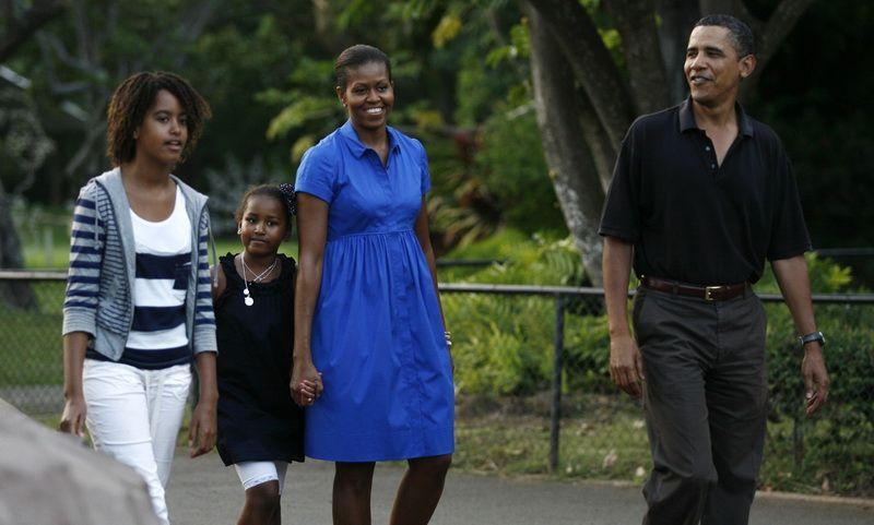 Sunt numai un zambet! Barack si Michelle Obama s-au relaxat intr-o vacanta in Caraibe