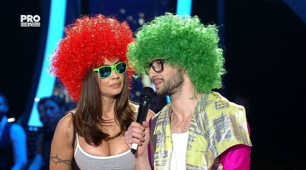 Oana Zavoranu si Daniel Dobre, deghizati pe scena Uite cine danseaza!