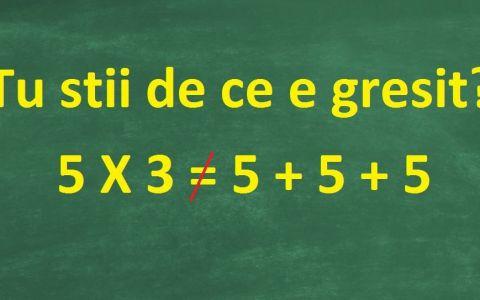 Problema de matematica care i-a indignat pe parinti. De ce acest calcul nu este corect