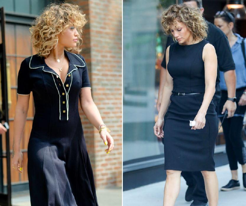 Semana ca doua picaturi de apa. Jennifer Lopez are o sosie la fel de celebra ca ea. Cu greu le poti deosebi