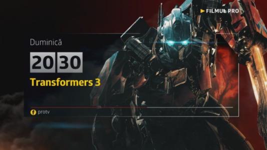 Transformers 3, duminica, 23 iulie, de la 20:30