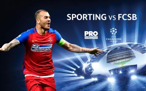ProTV, lider absolut de audienta marti seara, cu meciul dintre Sporting Lisabona si FCSB