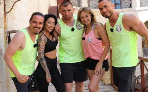Provocarea Fort Boyard strange o noua echipa - Ruby, Roxana Ionescu, Catalin Morosanu, Vasile Calofir si Sonny Flame