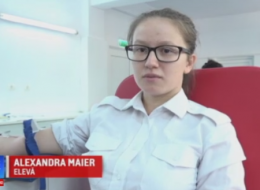 Elevii militari din Alba Iulia au donat sange pentru a salva vieti