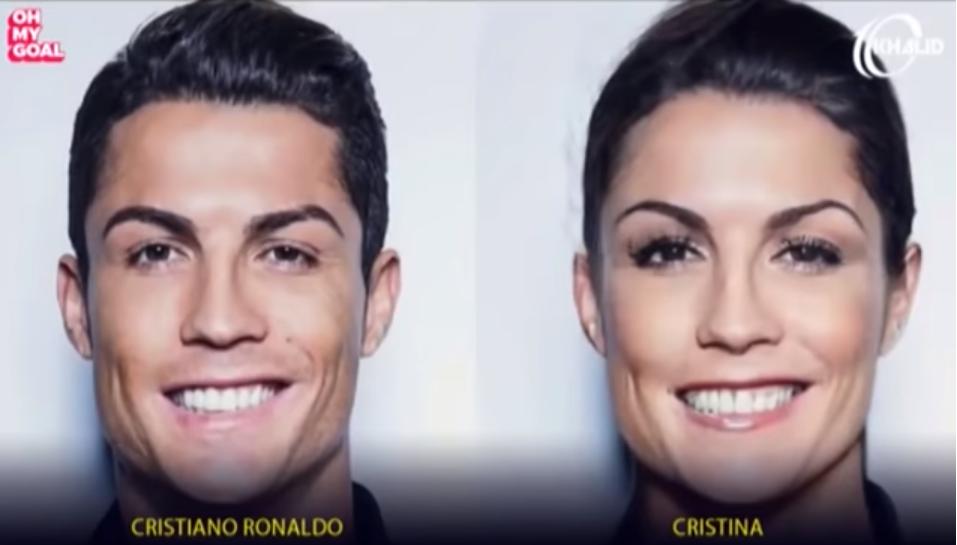 Imaginile care te pun pe ganduri! Cum ar arata cei mai tari fotbalisti daca ar fi femei. Messi si Zlatan sunt geniali