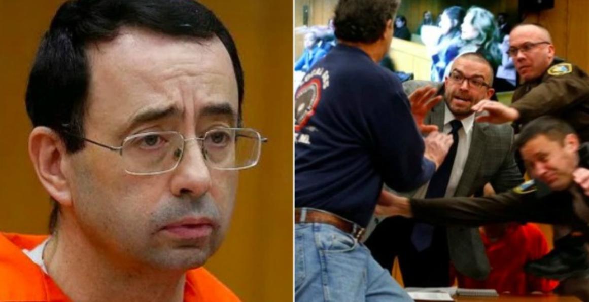 Tatal fetelor molestate l-a atacat pe agresor in camera de judecata