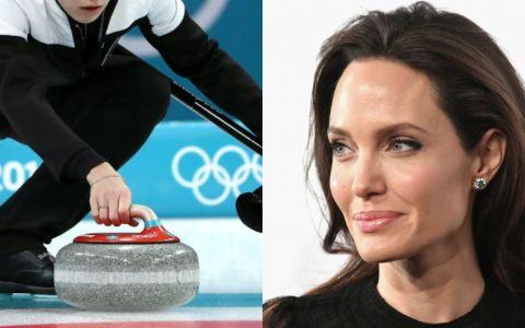 A topit gheata la Olimpiada de Iarna. Jucatoarea de curling care seamana perfect cu Angelina Jolie