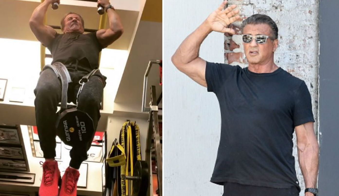 Sylvester Stallone are 71 de ani, dar se antreneaza mai ceva ca in tinerete. VIDEO