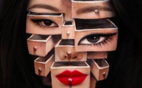 Femeia care se poate juca cu mintea oricui. Este incredibil ce poate face cu un simplu machiaj