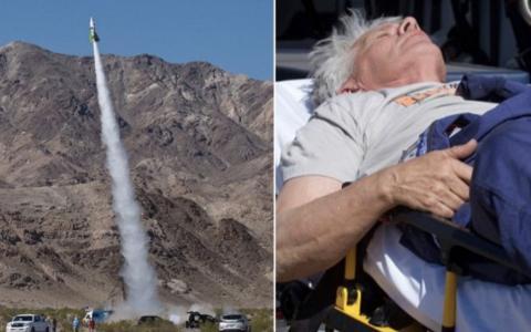A suferit un accident grav dupa ce a zburat in spatiu cu o racheta construita de el