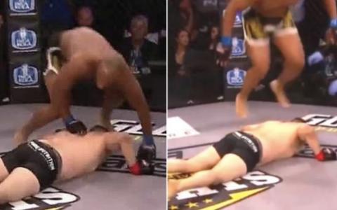 Un luptator MMA a fost descalificat dupa gestul pe care l-a facut atunci cand a castigat