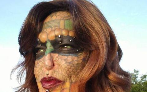 O femeie a cheltuit 40 000 de euro sa se transforme intr-un dragon