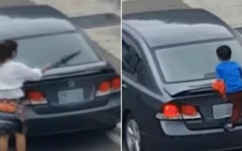 Si-a agresat copilul intr-o parcare, iar ce a urmat dupa este socant