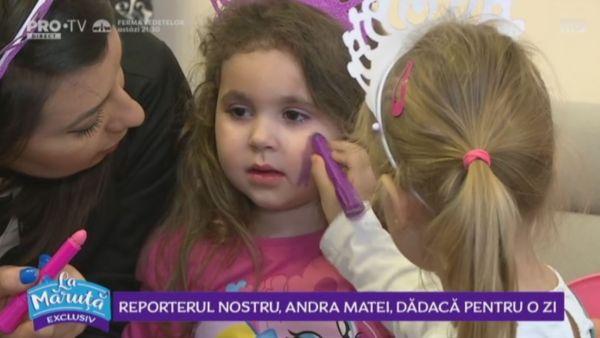 Reporterul nostru, Andra Matei, dadaca pentru o zi