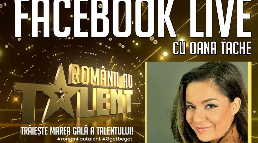 Oana Tache este digital host in marile gale live Romanii au talent!