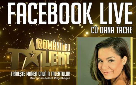 Oana Tache este digital host in marile gale live Romanii au talent!
