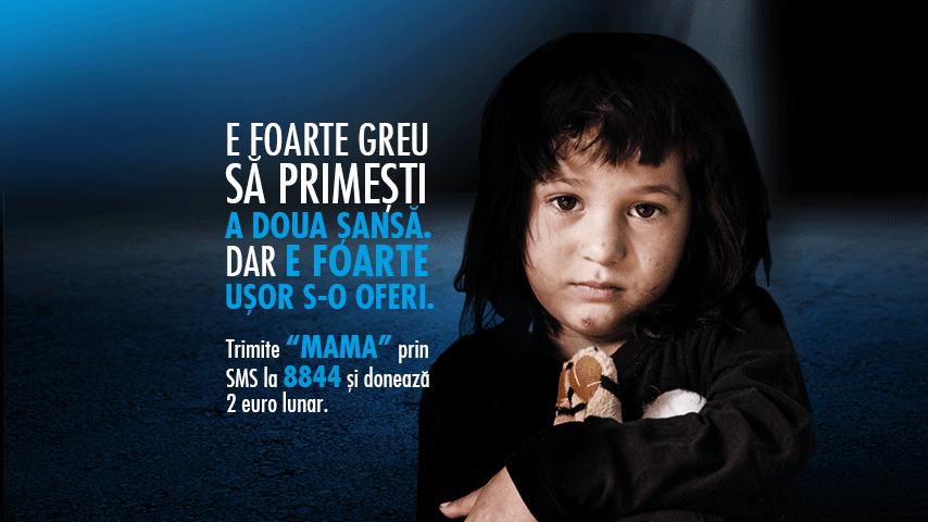 SOS Satele Copiilor, șansa copiilor orfani din Romania. Cabral s-a alaturat campaniei