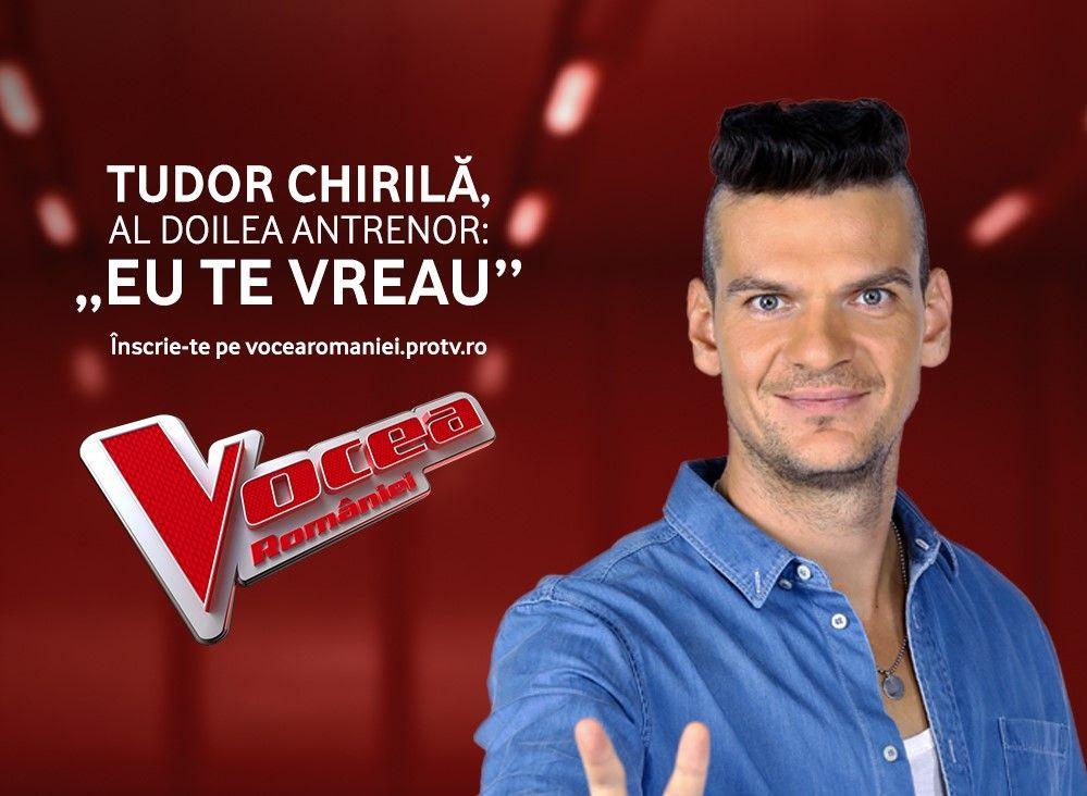 Tudor Chirila este antrenor în sezonul 8 Vocea Romaniei! Provocarea continua: ghici cine vine la Vocea!