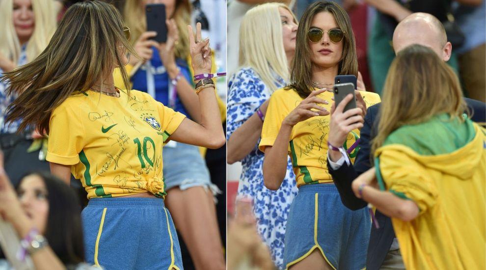 Cine e fotomodelul care a întors toate privirile la meciul Brazilia-Serbia. Ce rost mai are să te uiți la fotbal?