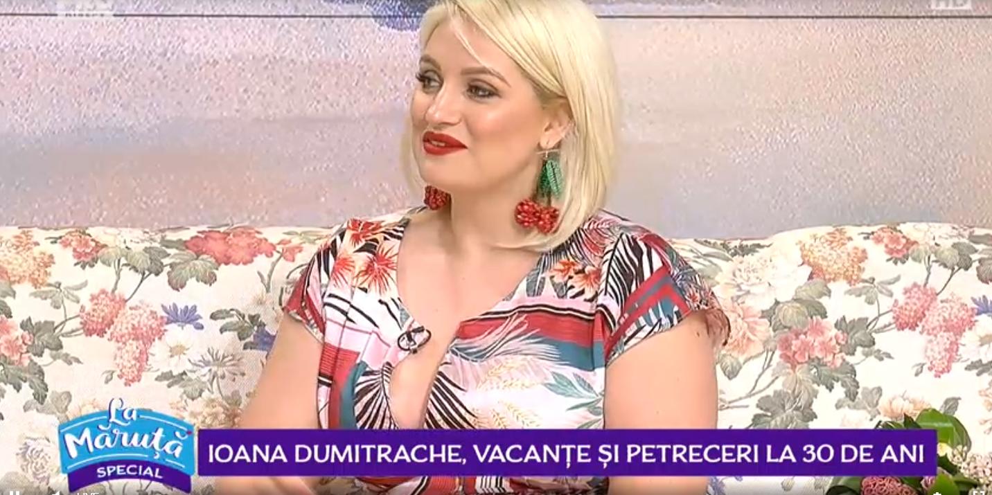 Ioana Dumitrache, vacanțe și petreceri la 30 de ani