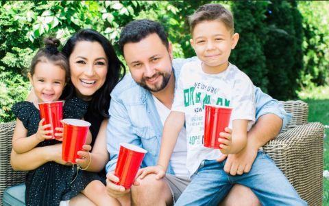Andra și Cătălin Măruță, petrecere în patru de ziua Evei. Mezina familiei a împlinit trei ani