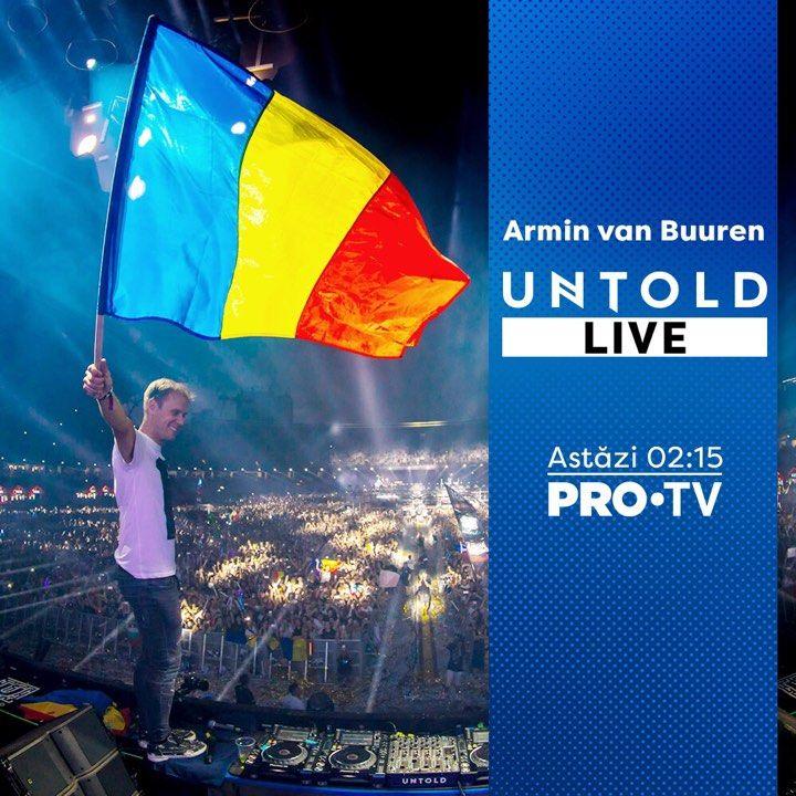 PRO TV transmite LIVE de la UNTOLD! Concertul lui Armin van Buuren ajunge duminică noapte la PRO TV