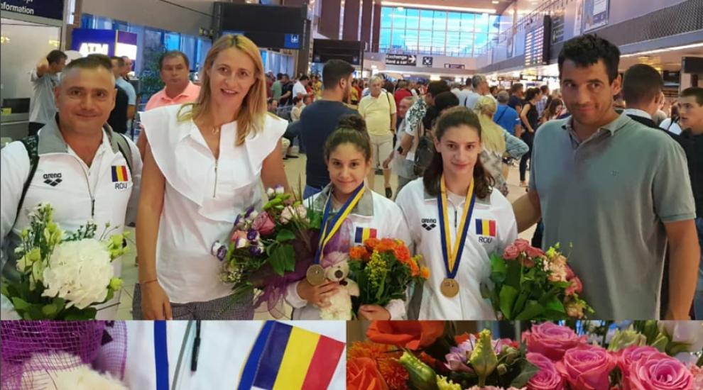 VIDEO Camelia Potec s-a întors de la campionatul de înot și se pregătește de naștere
