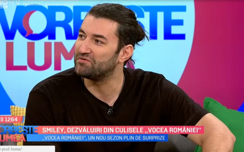 VIDEO Smiley, dezvaluiri din culisele  Vocea Romaniei