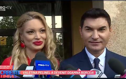 VIDEO Valentina Pelinel a devenit doamna Borcea.  De când am văzut-o mi-am zis ca ea este aleasa