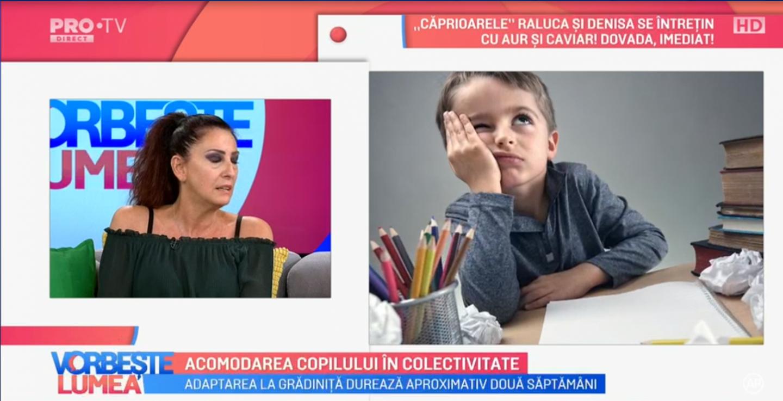 VIDEO Dr. Zaharia Cristina vorbește despre acomodarea copilului în colectivitate