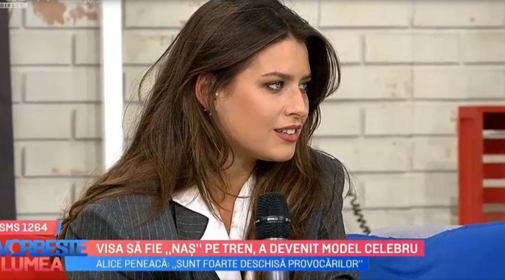"""VIDEO Alice Peneacă, de la visul de a deveni """"Naș"""" pe tren la o carieră de succes în modeling"""