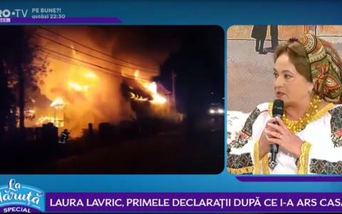 VIDEO Laura Lavric, primele declaratii dupa ce i-a ars casa.  Acolo erau toate amintirile mele