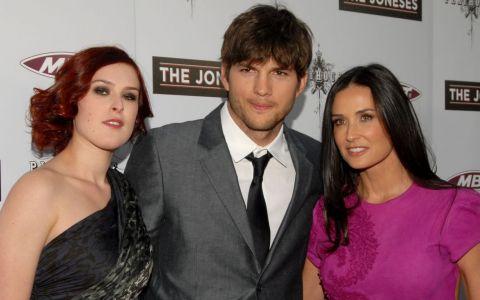 Ashton Kutcher, cadou de un milion de dolari pentru fosta sa  fiică vitregă , Rumer Willis