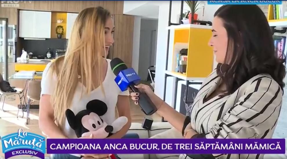 """VIDEO Exclusiv Campioană Anca Bucur, de trei săptămâni mămică: """"În prima zi eram plină de emoții"""""""