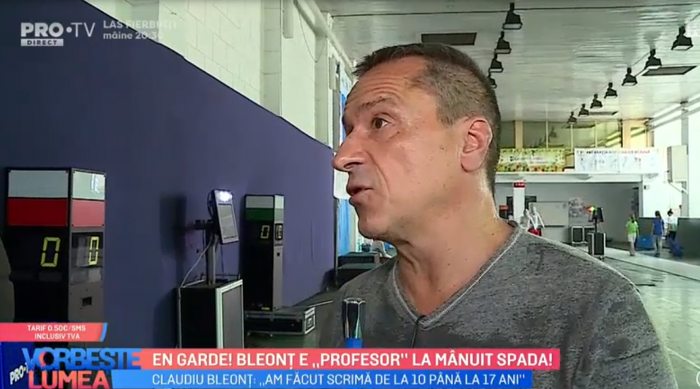 VIDEO Claudiu Bleonț este un profesor de spadă
