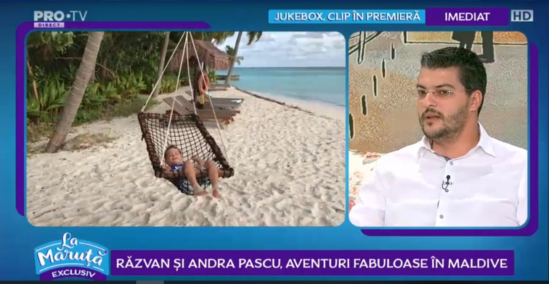 VIDEO: Razvan și Andra Pascu, clipe de poveste în vacanța din Maldive