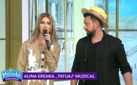 VIDEO Alina Eremia și-a tatuat titlul ultimei piese