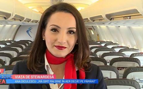 VIDEO Cum este viața de stewardesă. Ne explică Ana Diculescu