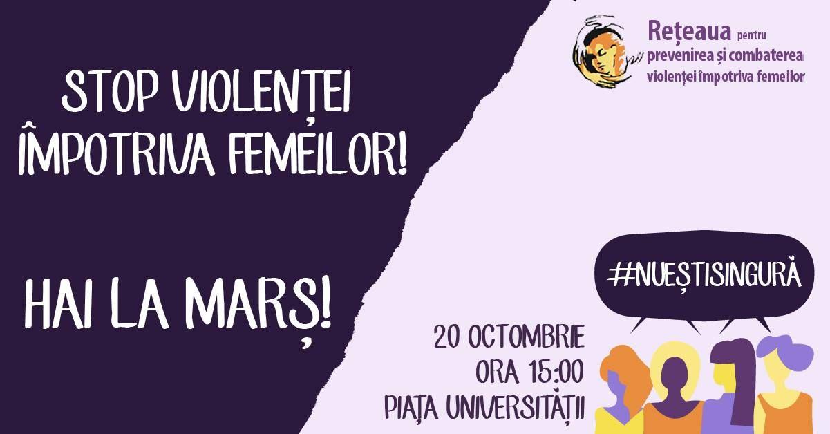 Vrei schimbare? Vino și tu la marșul  Împreună pentru siguranța femeilor
