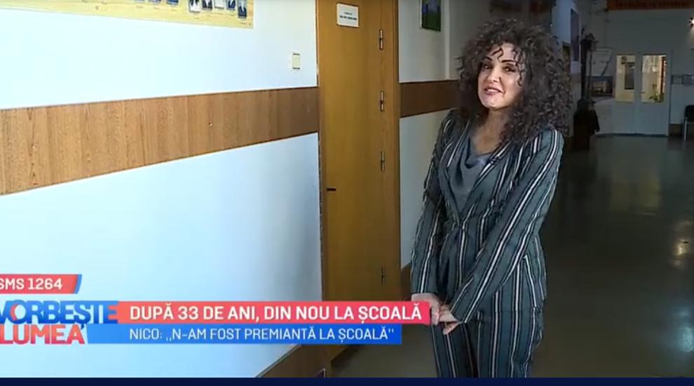 VIDEO Nico și-a adus aminte de copilărie și s-a reîntors la școala unde a învățat