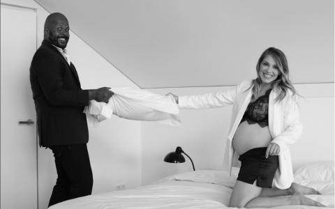 VIDEO Soția lui Cabral, Andreea Ibacka, în ultimul trimestru de sarcină