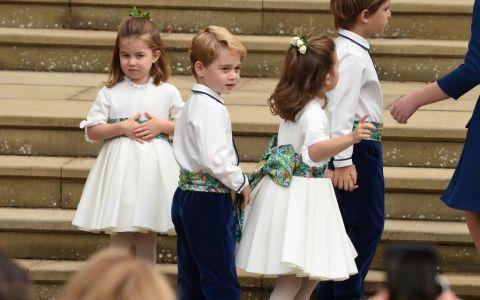 Ce drăguţi sunt! Charlotte şi George, copiii lui Kate şi ai lui William, în prim plan la nunta prinţesei Eugenie