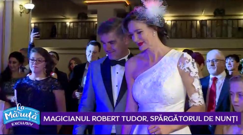 VIDEO Magicianul Robert Tudor, spărgătorul de nunți. Ce a făcut la nunta Roxanei Ciuhulescu?