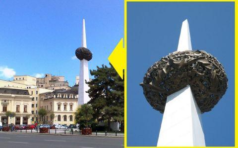 VIDEO Creatorul Cartofului în țepușă din Piața Revoluției explică de ce nu îndrăgesc românii monumentul său