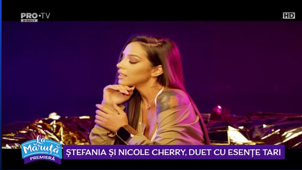 VIDEO Ștefania și Nicole Cherry, prima colaborare muzicală