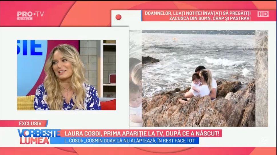 VIDEO Laura Cosoi, prima apariție la TV, după ce a născut