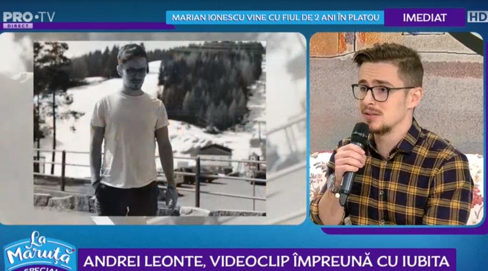 VIDEO Andrei Leonte, videoclip impreună cu iubita
